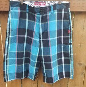 Plaid vans shorts